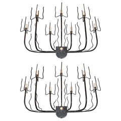 Two 1950s Sconces by Jacques Adnet
