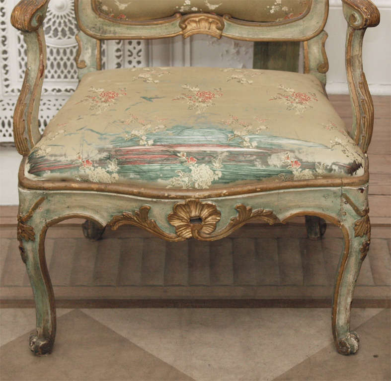18th Century Pair of Louis XV Style Fauteuils For Sale