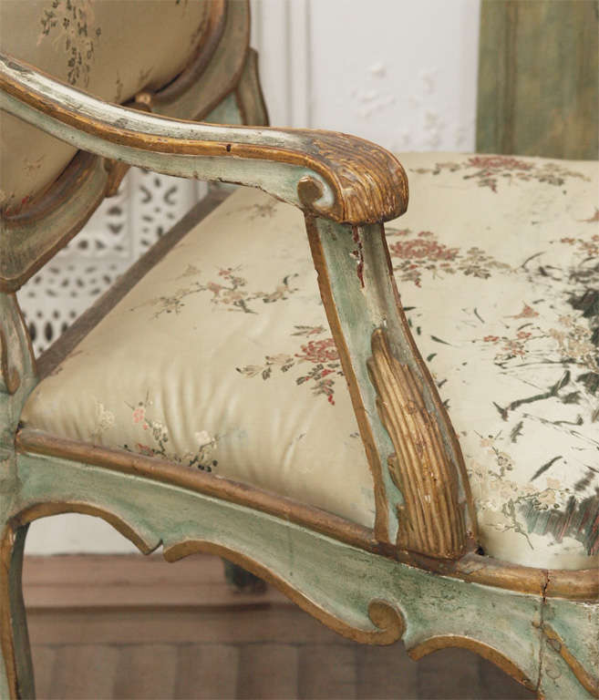 Pair of Louis XV Style Fauteuils 8