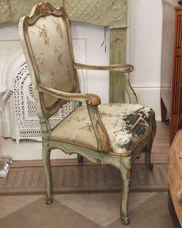 Pair of Louis XV Style Fauteuils For Sale 3