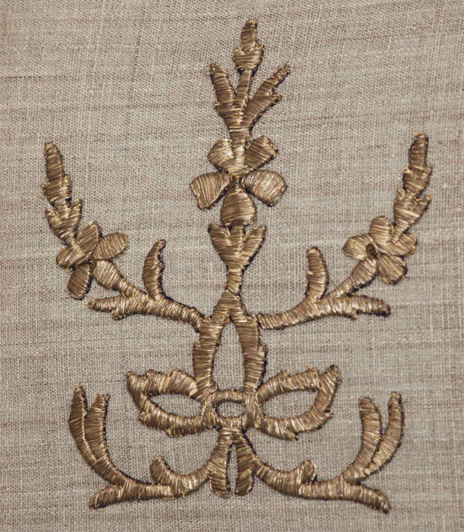 Pair of Antique Embroidery Pillows image 3