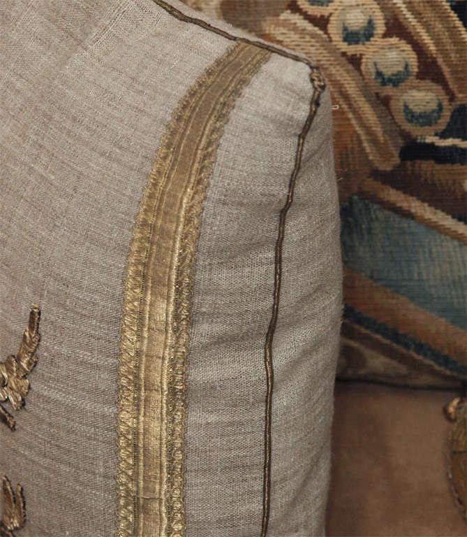 Pair of Antique Embroidery Pillows image 5