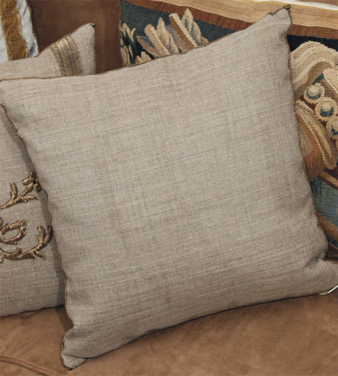 Pair of Antique Embroidery Pillows image 6