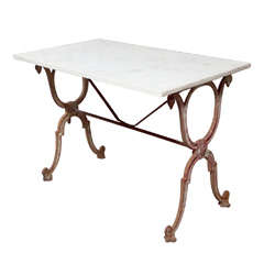 Elegant 19th Century French Cast Iron Conservatory Table