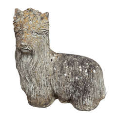 Whimsical Cast Stone Yorkshire Terrier