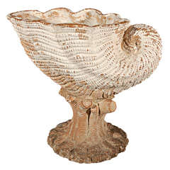 A Terra Cotta Shell Form Planter