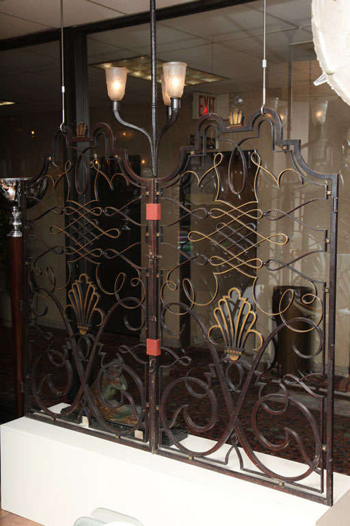 French 1940s Apartment Gate Attributed to Raymond Subes 2