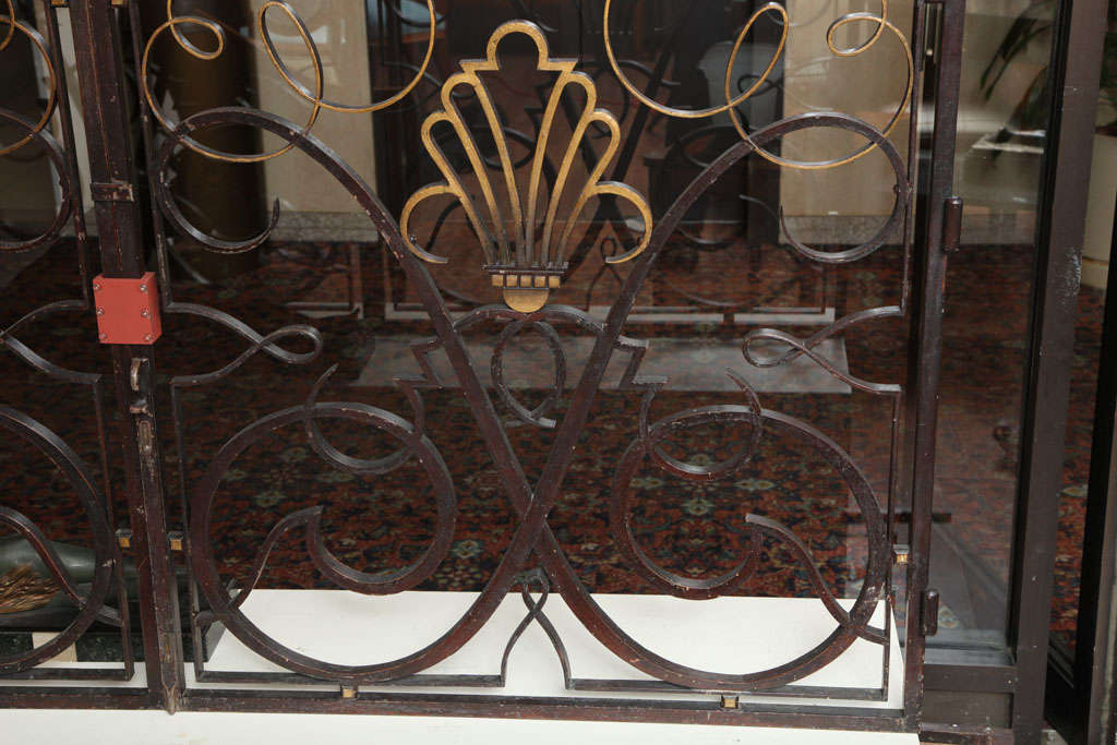 French 1940s Apartment Gate Attributed to Raymond Subes 3
