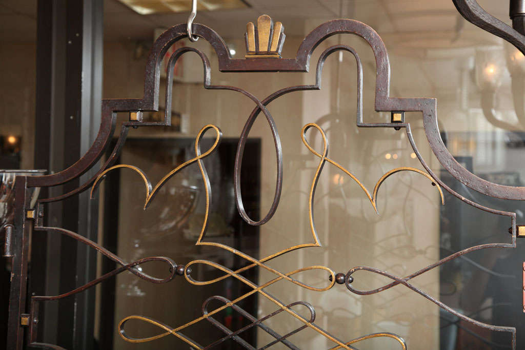 French 1940s Apartment Gate Attributed to Raymond Subes 6