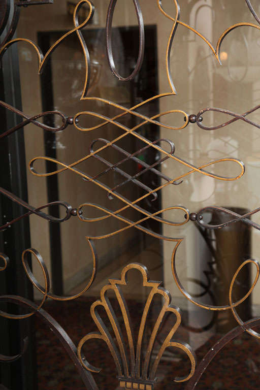 French 1940s Apartment Gate Attributed to Raymond Subes 7