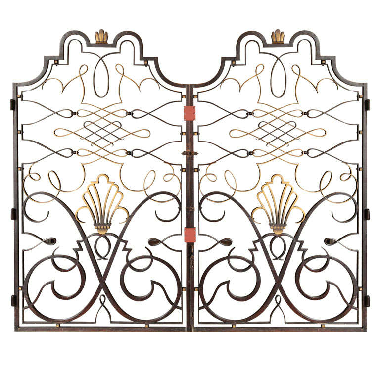 French 1940s Apartment Gate Attributed to Raymond Subes 1