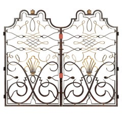 French 1940s Apartment Gate Attributed to Raymond Subes