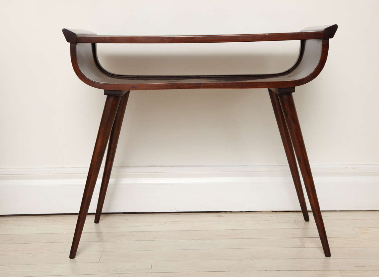 Mid century modern walnut console table at 1stdibs for Table console