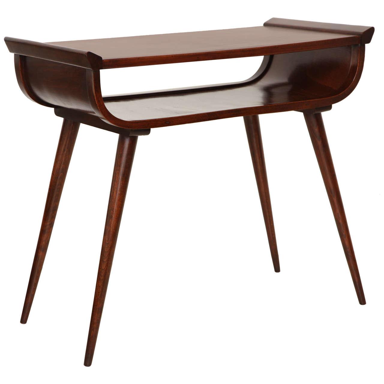Mid Century Modern Console Table: Mid-Century Modern Walnut Console Table At 1stdibs