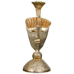 Pierre Casenove for Fondica Gilt Bronze Candleholder