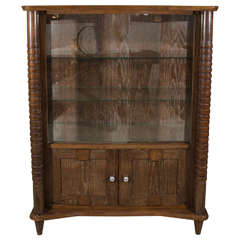 French Art Deco Cerused Wood Cabinet