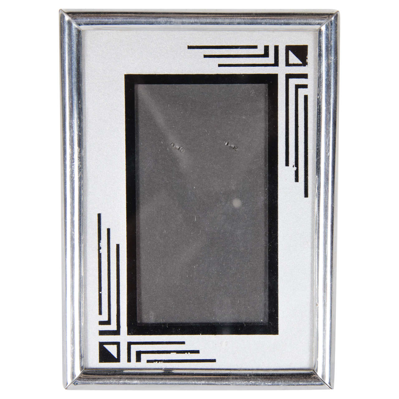 Art Deco Chrome And Reverse Painted Frame At 1stdibs