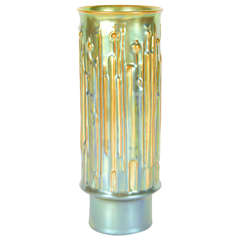 Art Deco Iridescent  Porcelain Vase by Zsolnay