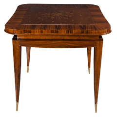 Exquisite Art Deco Directoire Style Game Table in the Style of Jules Leleu