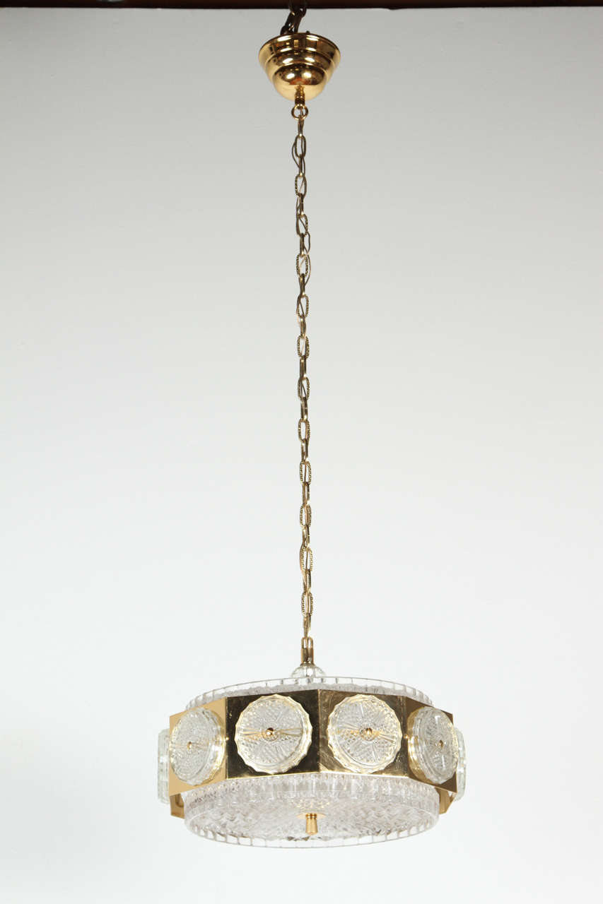 Brass Orrefors Ceiling Light Fixture For Sale At 1stdibs