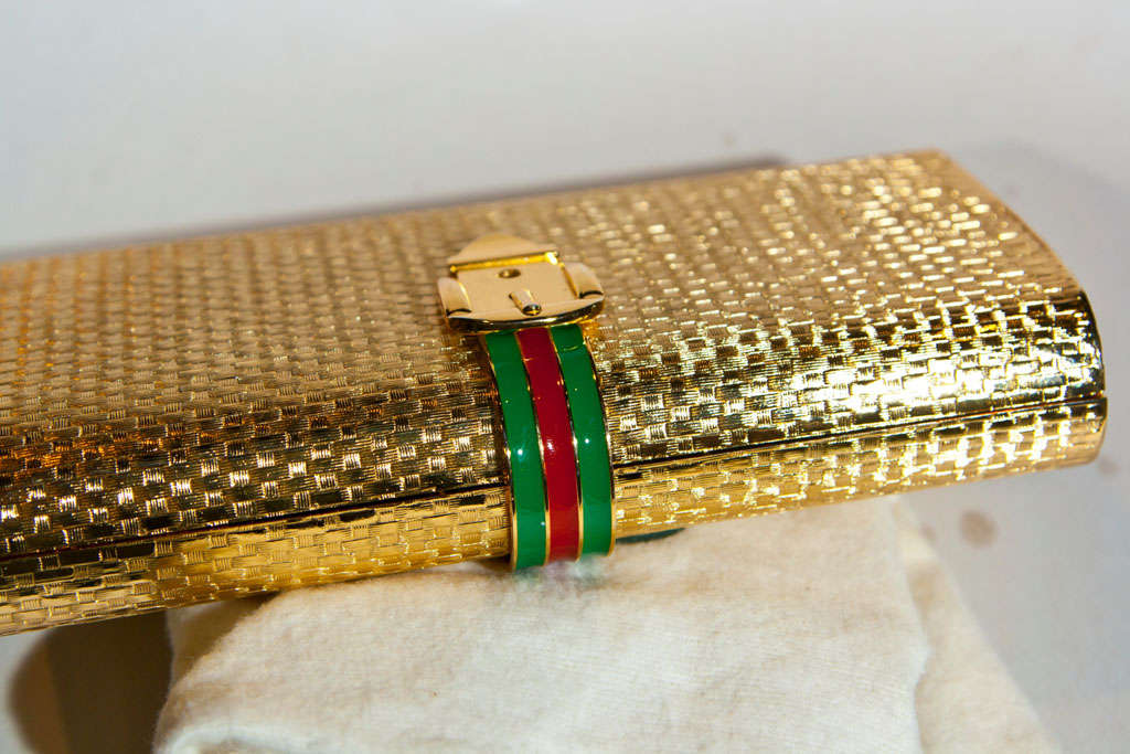 Gucci Enamel Racing Stripe Minaudiere 6