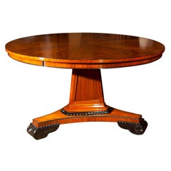 Regency Style Rosewood Centre Hall Table