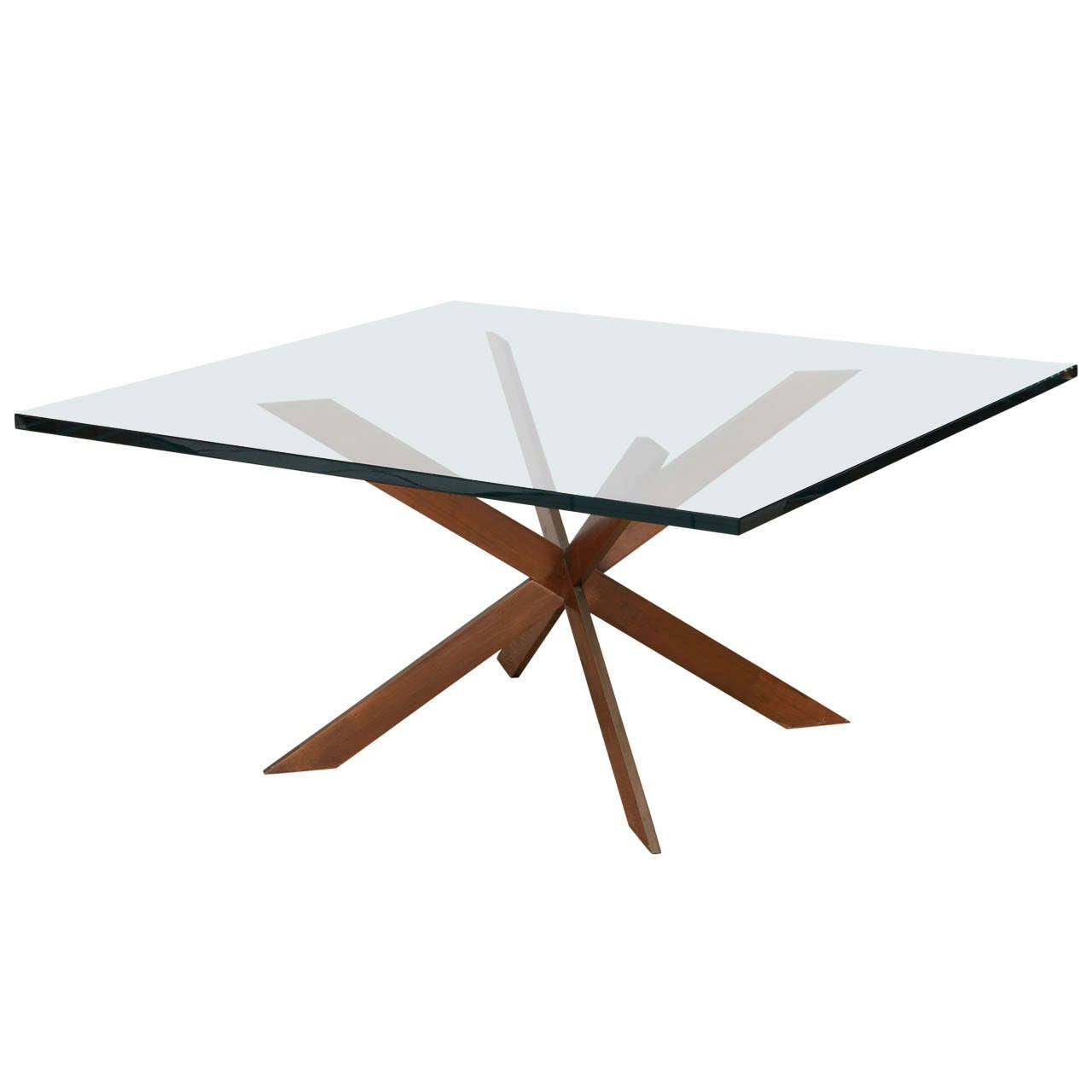 Double Cross Copper Coffee Table For Sale At 1stdibs