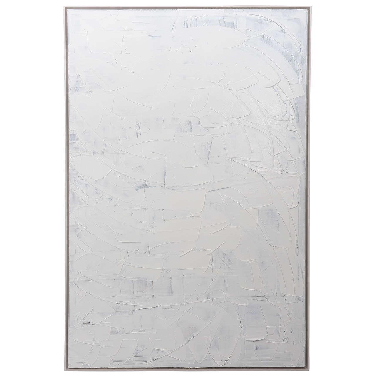 Abstract Expressionist Oil on Canvas, Renato Freitas