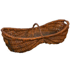 19th Century French Grape Harvest Gathering Basket