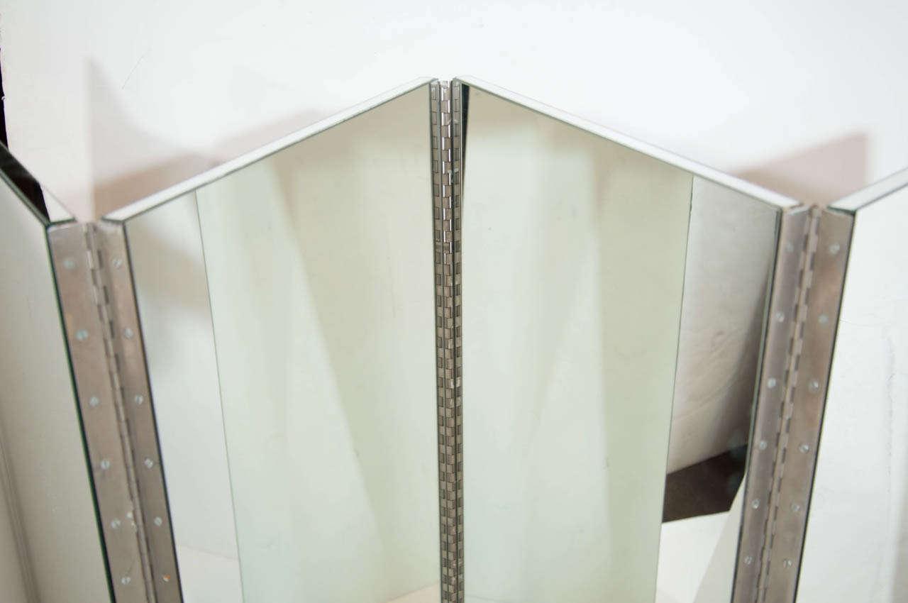 Mirrored Room Dividers Three Panel