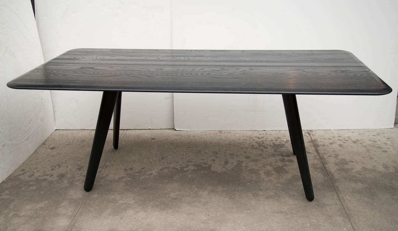 tom dixon modernist wood slab dining table desk at 1stdibs. Black Bedroom Furniture Sets. Home Design Ideas