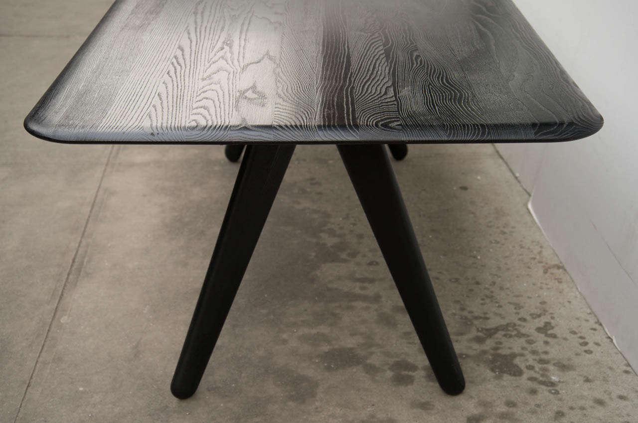 Tom Dixon Modernist Wood Slab Dining Table Desk At Stdibs - Tom dixon coffee table