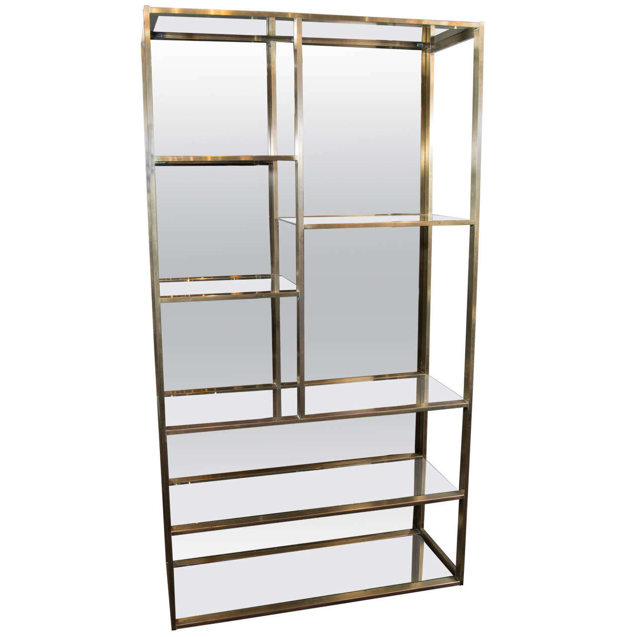 mid century modern tager with bronze mirrors designed by milo baughman at 1stdibs. Black Bedroom Furniture Sets. Home Design Ideas
