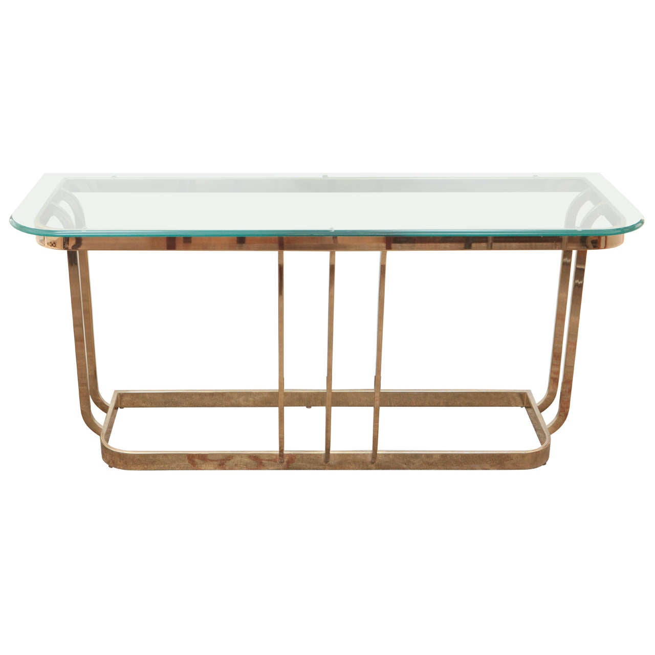 Milo Baugman Console Table At 1stdibs. Full resolution  image, nominally Width 1280 Height 1280 pixels, image with #714A31.