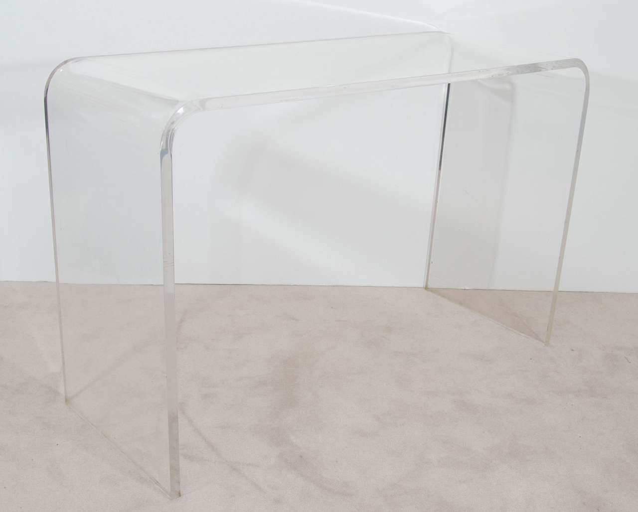Vintage Modern Waterfall Lucite Console Table, 1970s In Good Condition For Sale In New York, NY