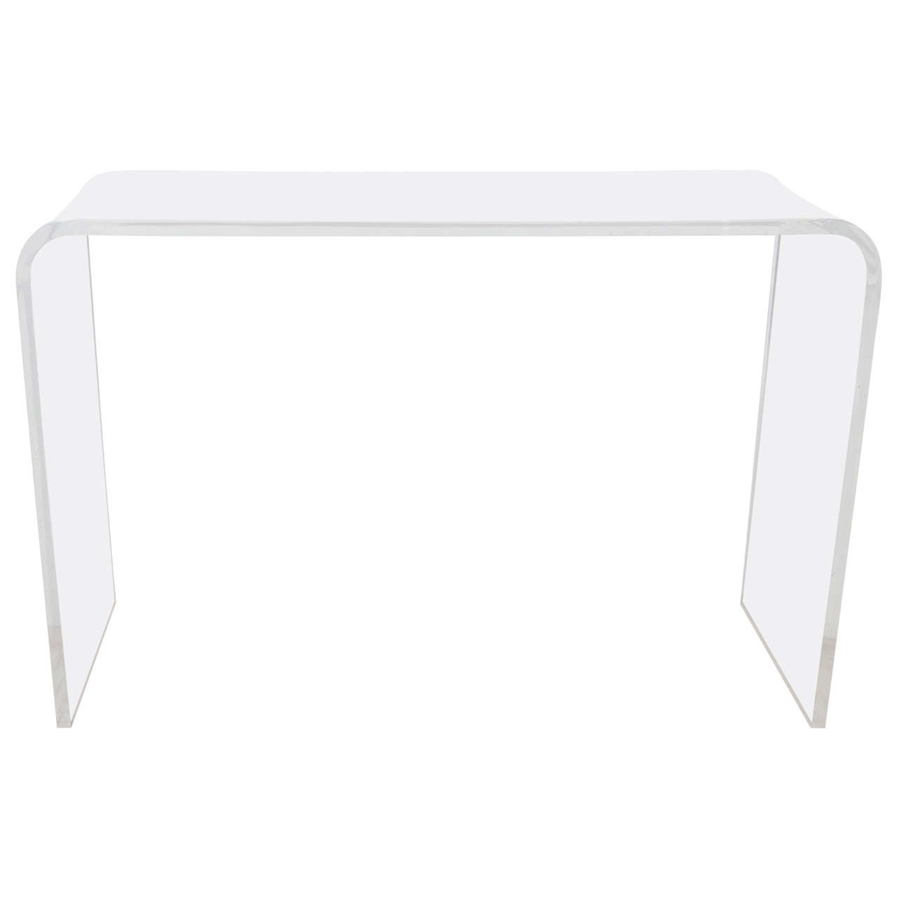 Vintage Modern Waterfall Lucite Console Table, 1970s For Sale