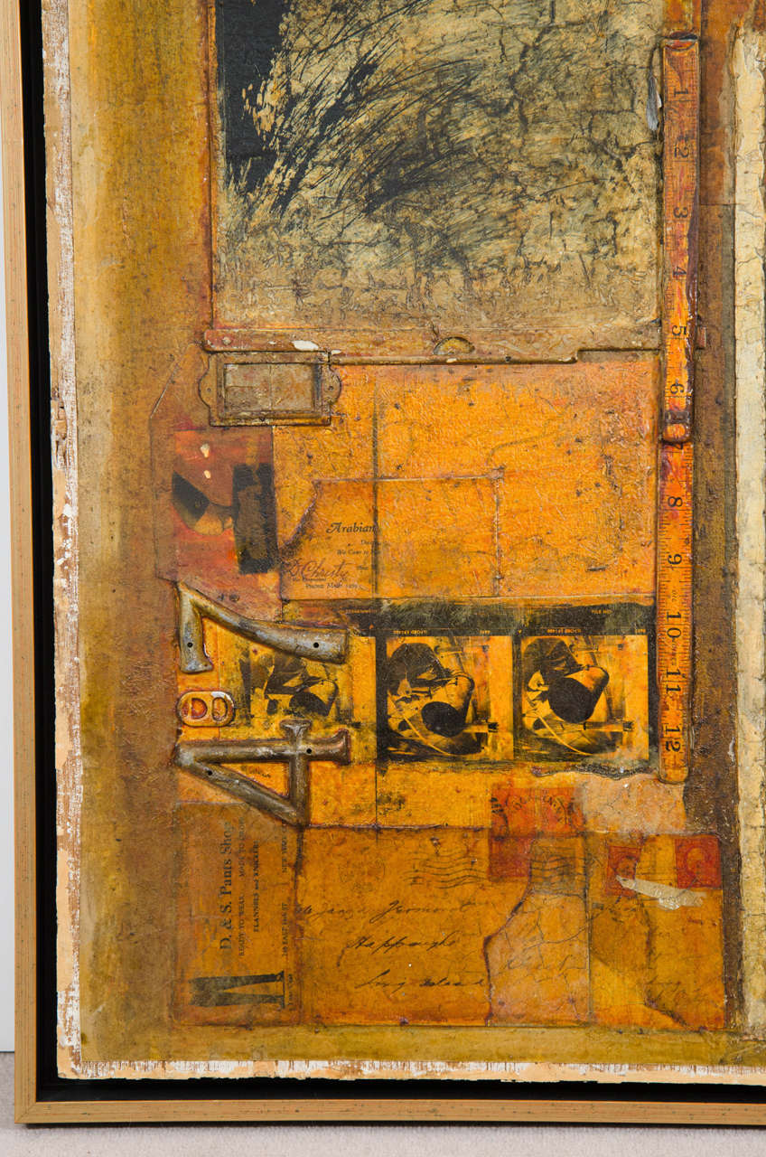 Mixed Media Collage Painting By New York Artist Gilberto Magpantay At 1stdibs
