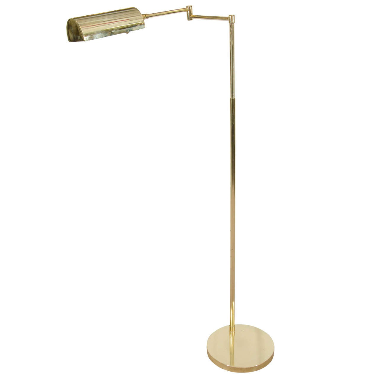 Midcentury koch and lowy swing arm adjustable brass floor lamp at midcentury koch and lowy swing arm adjustable brass floor lamp for sale mozeypictures