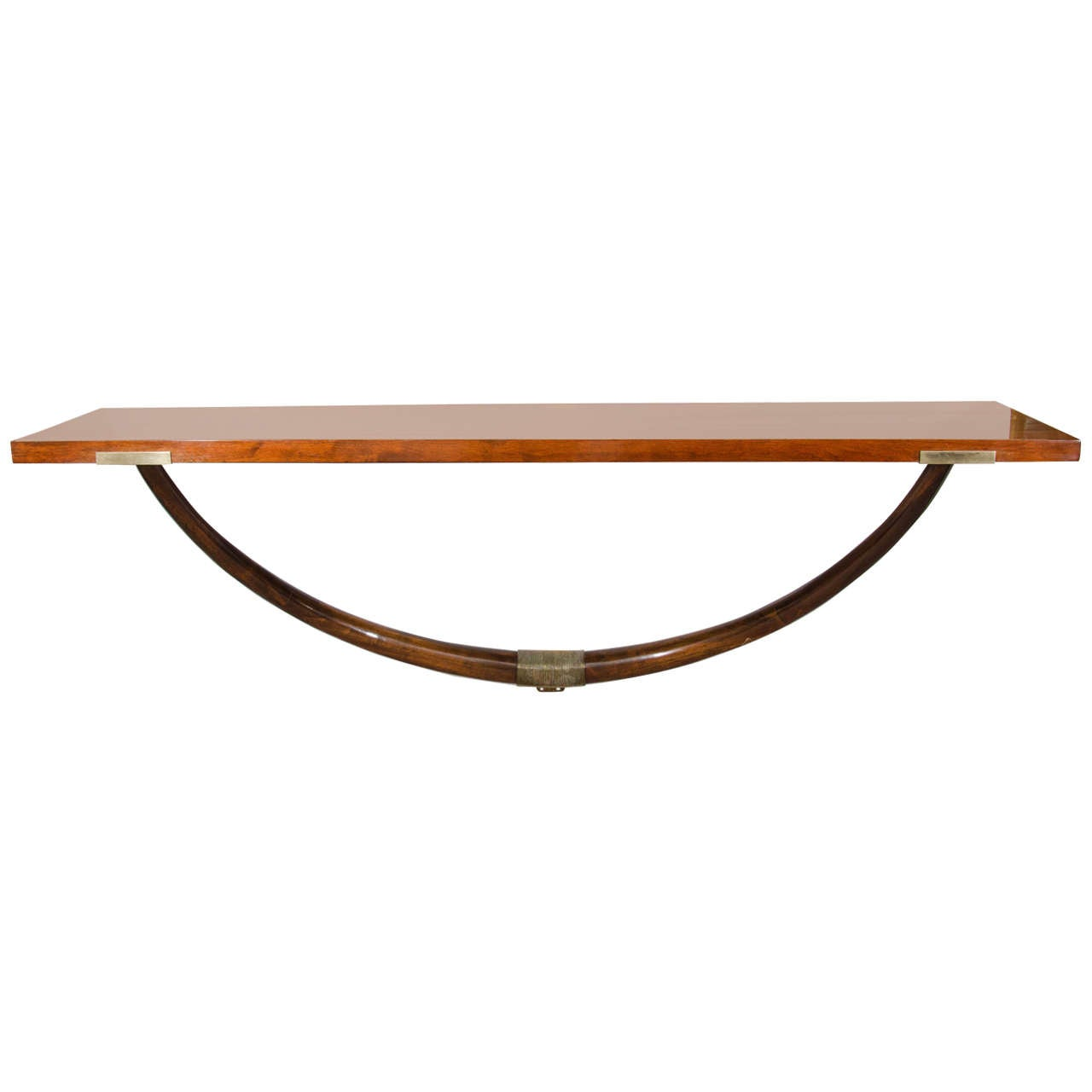 A Midcentury Maurice Bailey for Monteverdi Young Wall Mounted Console Table