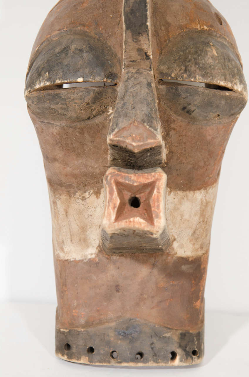 Songye Style Hand Carved Wooden Mask At 1stdibs