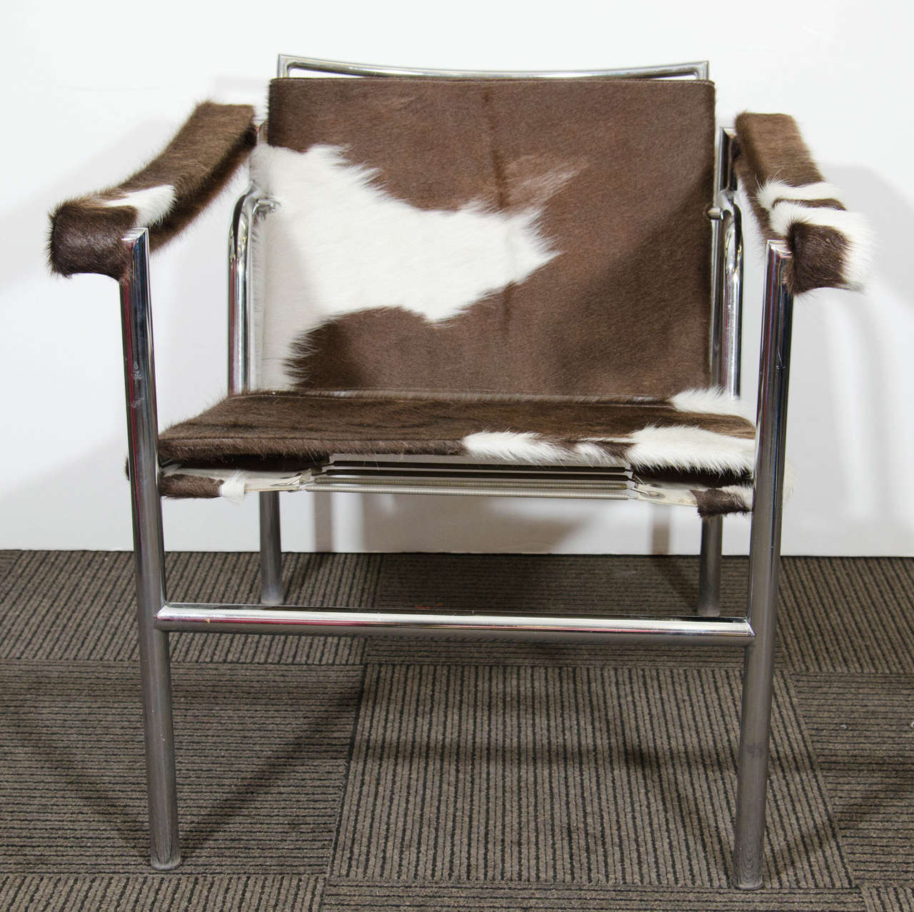 Midcentury le corbusier sling chair newly reupholstered in for Reupholstered furniture for sale
