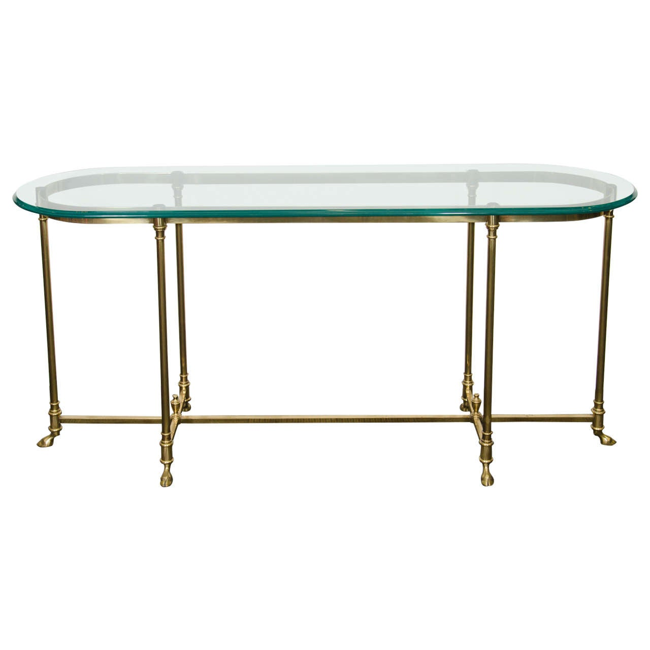 A hollywood regency style console table with hoof feet by for 5 foot console table