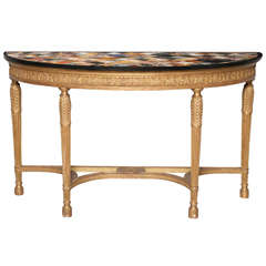 Important George III Giltwood Console Table