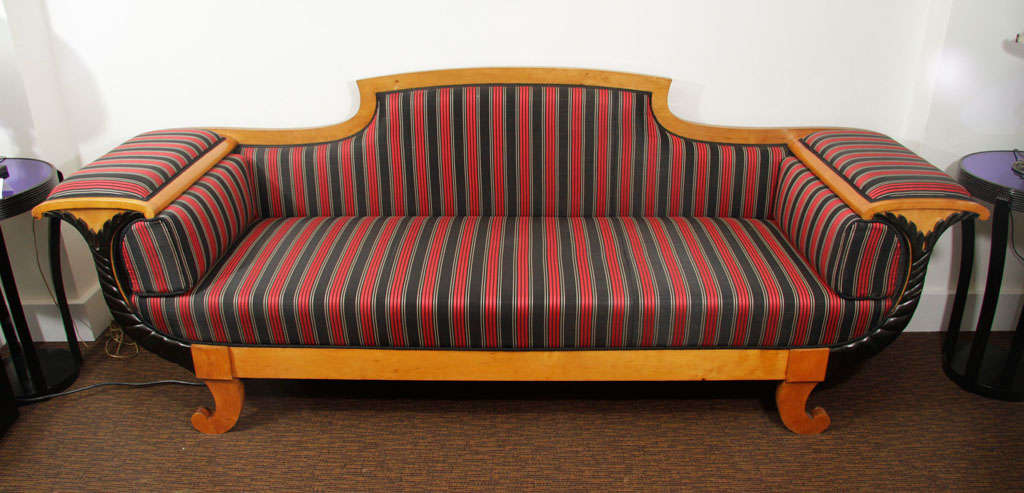 Birch Biedermeier Sofa For Sale