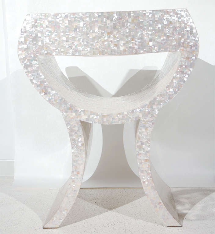 Amazing Mother of Pearl Veneered Armchair image 8
