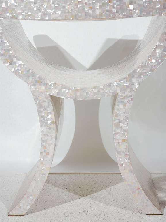 Amazing Mother of Pearl Veneered Armchair For Sale 6