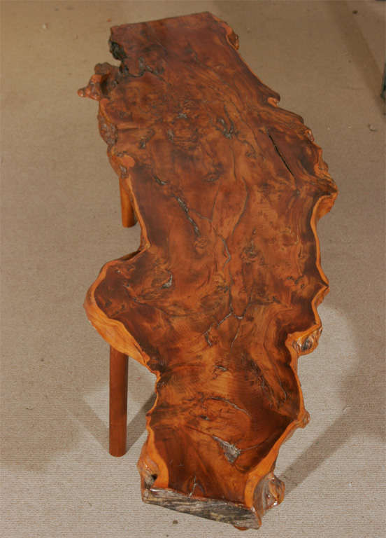 A Rustic Yew Wood Coffee Table By Reynolds Of Ludlow. 2