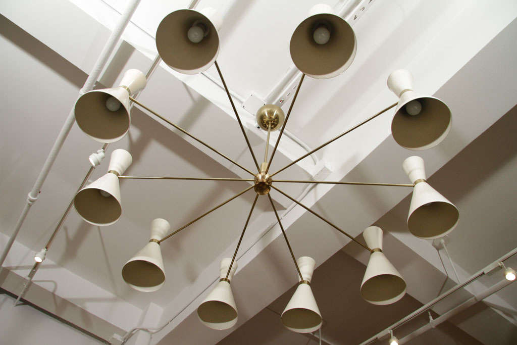 20th Century Stilnovo Style Chandeliers For Sale