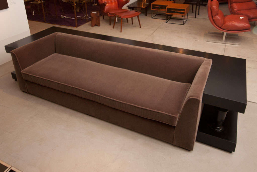 Stunning Sofa And Wrap Around Console By James Mont image 3