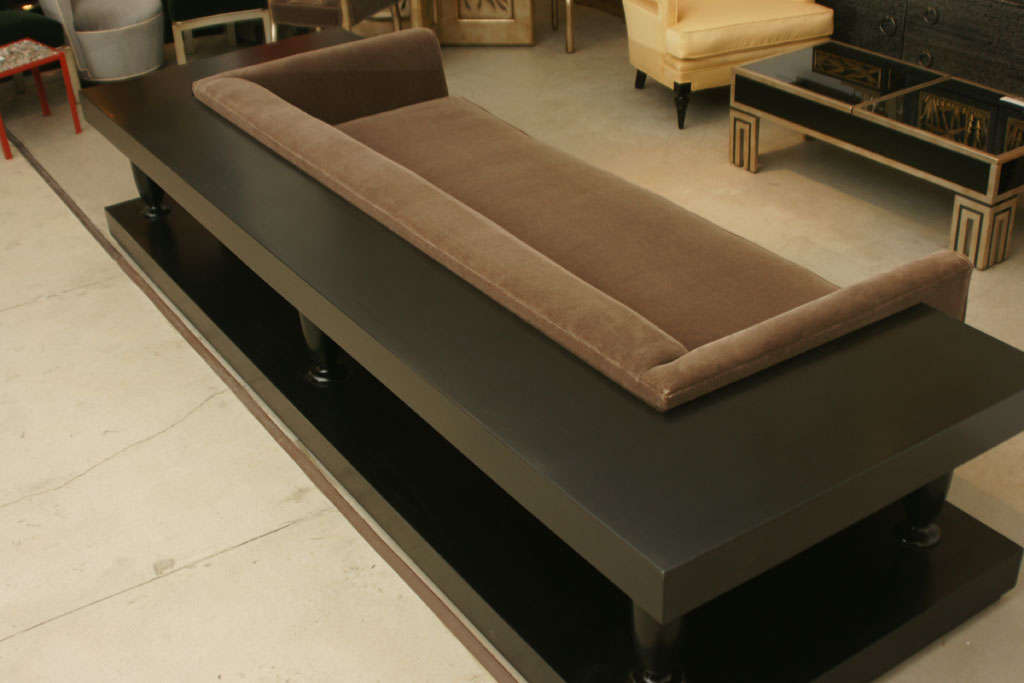 Stunning Sofa And Wrap Around Console By James Mont image 5